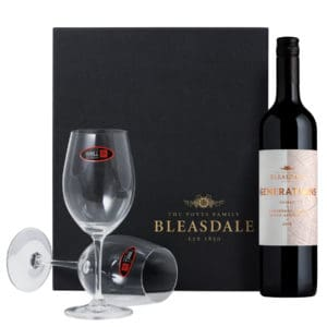 Bleasdale Generations Shiraz 2018 with Riedel Glasses